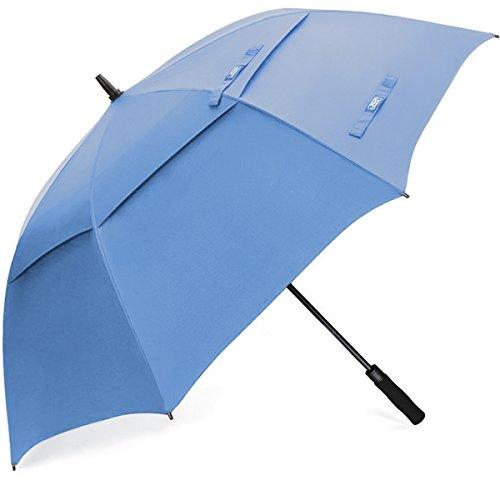 G4Free Golf Umbrella 68 pulgadas a prueba de viento doble toldo ventilado extra grande de gran tama?o autom¨¢tico abierto impermeable Stick paraguas