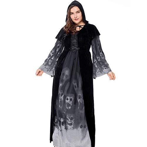 Klassische Hexe Für Erwachsene Damen Kostüm - QWE Halloween-Kostüme, Schädeldrucke, Hexen, Vampiranzüge, große
