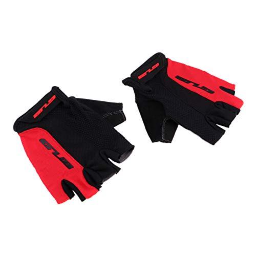 B Baosity 2 Sets de Guantes para Deportes Acuáticos de Natación Snorkel Flotación Hecho de Spandex y Silicona - Negro Rojo-L