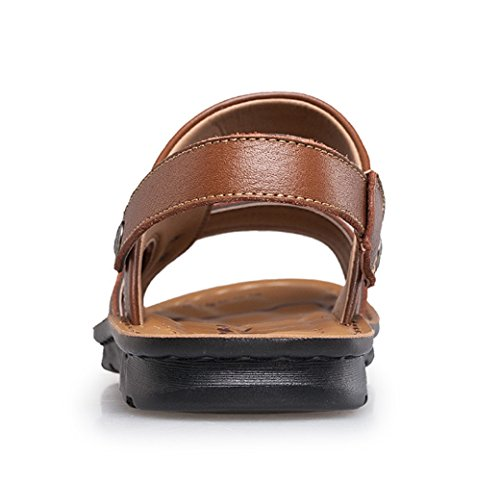 Icegrey Hommes Sandales Ouvertes Tongs De Plage Chaussons Antiderapant Marron