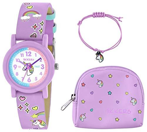 Tikkers - Reloj de Unicornio, Color Lila