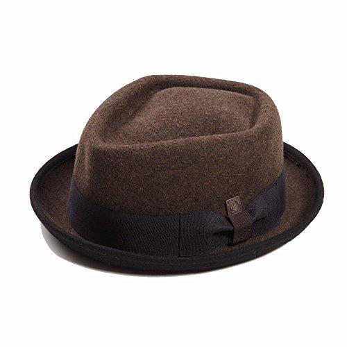 e71864b86d8a7c Dasmarca Jacson Chestnut Melange Wool Felt Diamond Crown Porkpie Hat - L