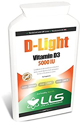 "LLS D-Light Vitamin D3 | High Strength 5000iu | 180 Softgels - *** 6 Months Supply *** | Manufactured in the UK Under GMP License | Love Life Supplements - ""Live Healthy. Love Life!"" from Love Life Supplements"