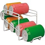 Metaltex Dispensador para Botes, Blanco, Metal, 18x33x15cm