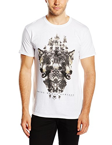Bring Me The Horizon Wolven Version 2 - Camiseta manga corta para hombre, color blanco, talla S