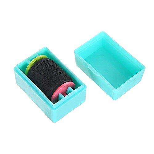 Preisvergleich Produktbild Minkoll Roller Stamps Guard Ihre ID Mini Roller perfekt für Stempel Privatsphäre (blau)