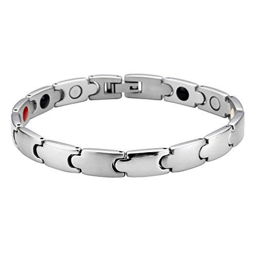 Zysta Schmuck Herren Damen Magnetarmband Titan magnetische Armband Magnet Partnerarmbänder Manschette Armreif aus Edeltahl mit U From