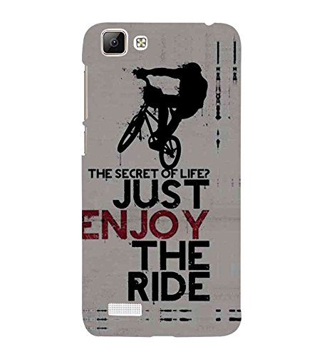 HiFi Designer Phone Back Case Cover Vivo V1 :: Vivo Y35 ( Stunt Rider Bike Cycle Racer )  available at amazon for Rs.477