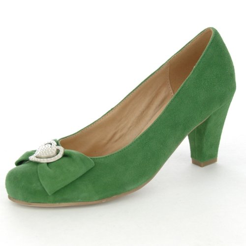 Pumps in Apfelgrün von Andrea Conti, Schuhgröße:41, Farbe:Hellgrün