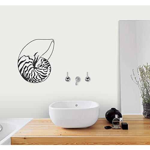 Muschel Wandkunst Abziehbilder Ziemlich Dekoration Abnehmbare Wandaufkleber Selbstklebende Aufkleber Wandbild Ozean Thema Raum Dekor 56x71 cm
