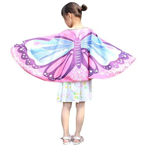 Lehrer Zubehör Kostüm - OVERDOSE Kind Kinder Jungen Mädchen Karneval Kostüm Faschingskostüme schmetterlingsflügel Kimono Flügel Schal Cape Tuch Pashmina Kostüm Zubehör Butterfly Wing Cape