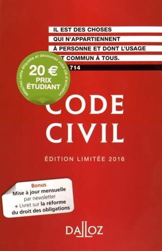 Code civil : Edition limitée par Dalloz