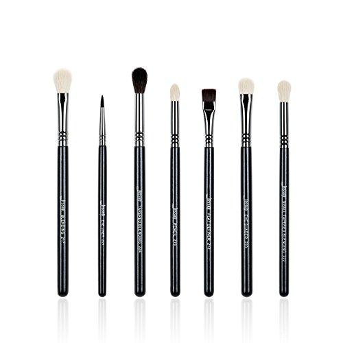 Jessup Marke 7schwarz/silber Profi Make-up Pinsel Beauty Lidschatten Blend Shadow Eyeliner Smoked sloom Eye Shader Pencil Pinsel Kosmetik-Set (Pinsel Shadow)