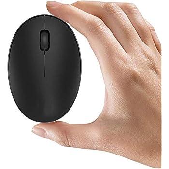 TENMOS Mini ratón inalámbrico recargable para ordenador, 2.4 GHz ratón óptico de viaje silencioso con receptor USB, apagado automático, 3 botones, ...