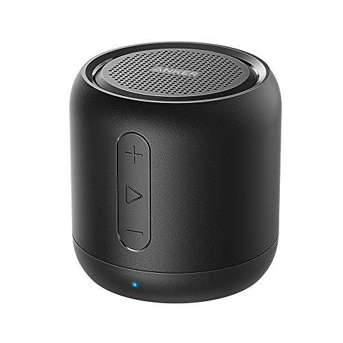 Anker SoundCore Mini Super Mobiler Bluetooth Lautsprecher Speaker Musikbox mit 15 Stunden Spielzeit, 20 Meter Bluetooth Reichweite und Starkem Bass (Schwarz)