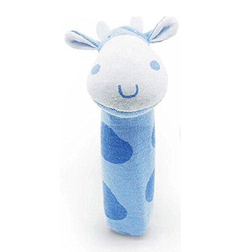 Zibuyu Developmental Animal Soft Stuffed Infant Baby Plush Toys Rattles Kids Cow