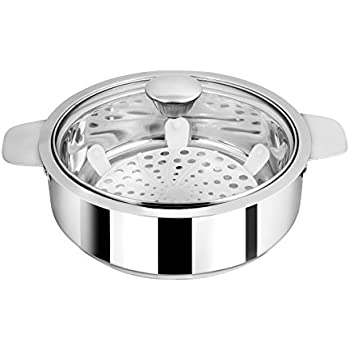 NanoNine SS086 Stainless Steel Insulated Chapati Small Casserole, Silver