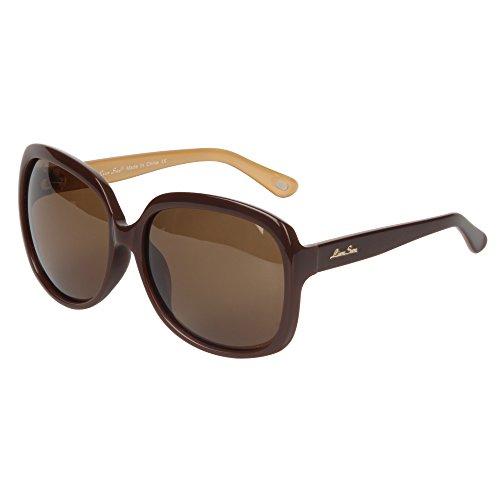 LianSan Sonnenbrille Oversize Fashion Damen Acetat UV400 Schutz Polarized LSP301HBN braun