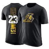 HS-ZHAOPAN Los Angeles Lakers # 23 Lebron James Basketball Trikot Lockere Sport Top Kurzarm-Fan-T-Shirt Halbarm Warm-Up-Anzug (160~195Cm),L170~175CM