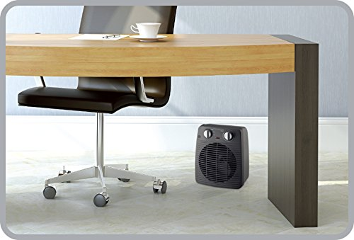 Rowenta SO2210 Compact Power Termoventilatore Potente e Compatto, Riscalda e Raffredda Gli Ambienti, Ottimo per Qualsiasi Stagione, 2000 W, 220 V, Nero
