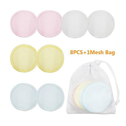 Almohadillas reutilizables de 8/16 piezas con bolsa de malla para la colada, lavables, suaves y limpias, de algodón, sin productos químicos, para cuidado facial y de la piel