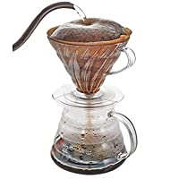 Drip Coffee Set V60 Plastic With a gradient glass serving bowl