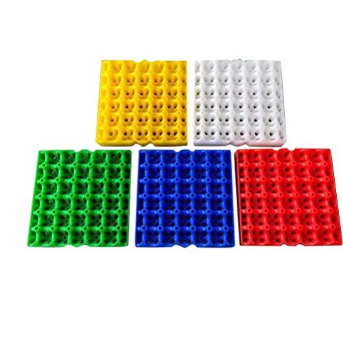 UPKOCH soporte para huevos - contenedor de almacenamiento de huevos caja dispensador de huevos -30 rejilla bandeja de huevos (5 piezas color aleatorio)
