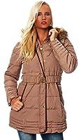 10149 Fashion4Young Damen Steppmantel Steppjacke Long Jacke Mantel verfügbar in 5 Größen 2 Farben