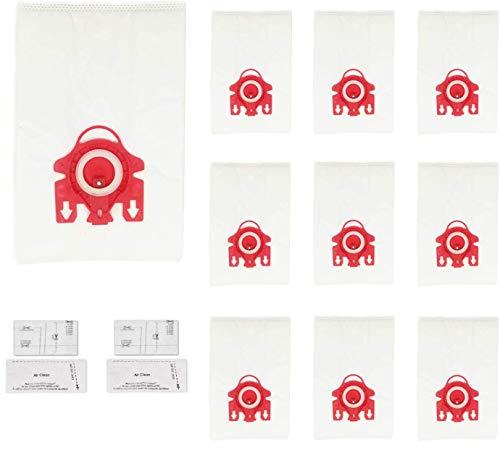 Green Label Empaque de 10 Bolsas 3D de Tipo HyClean FJM y 4 MicroFiltros para Aspiradora Miele 10+4...
