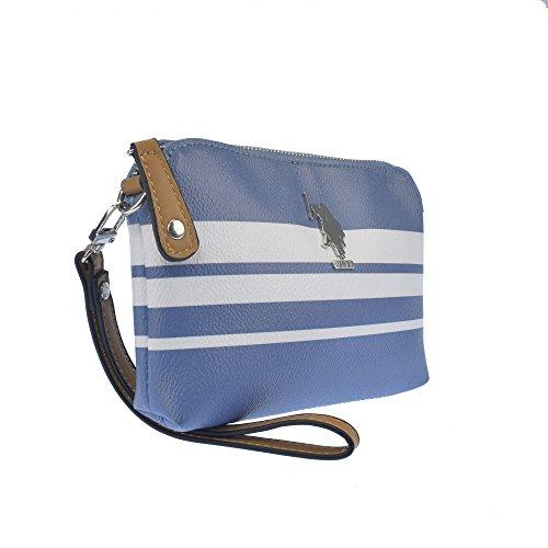 U.S.POLO ASSN. Handgepackte Handtasche 19.5x2.5x12.5 cm Avio - Weiß