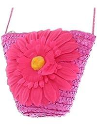 HENGSONG Femmes Girl Beach Tournesol Paille Sac Fourre-tout Embrayage Lady Single Shoulder Bag
