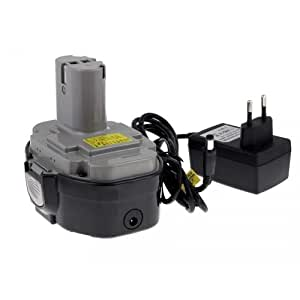 Batterie pour Makita radio DMR102 chargeur incl.