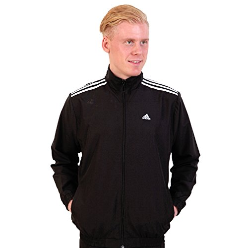 Adidas Black Polyester Track Jacket For Men (Medium)