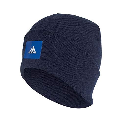 adidas Erwachsene Logo Woolie Mütze Navy/Collegiate Royal, OSFM