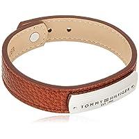 TOMMY HILFIGER MEN'S STAINLESS STEEL & BROWN LEATHER BRACELETS -2790181