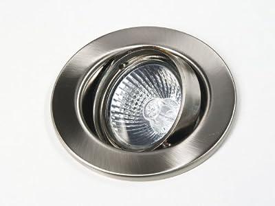 230V Halogen Einbaustrahler | Einbauleuchte | Downlight Sphere GU10 Farbe: Metall gebürstet | ohne Leuchtmittel