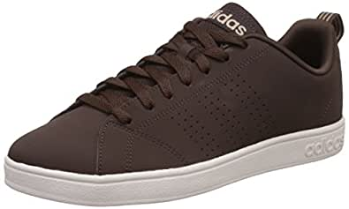 adidas neo Men's Advantage Clean Vs Dbrown, Dbrown and Stcark Leather Sneakers - 10 UK/India (44.7 EU)
