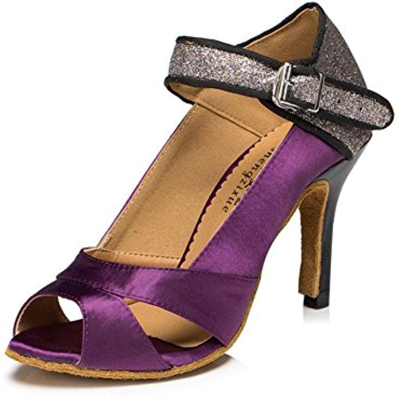 Byjia Scarpe Da Ballo Donna Scarpe In Pelle Scamosciata In Pelle Tacco Alto Salsa In Satin Salsa Latin Tango Ballerina... | Buon design  | Uomini/Donne Scarpa
