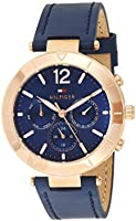 Tommy Hilfiger Womens Quartz Watch, Analog Display and Stainless Steel Strap 1781881