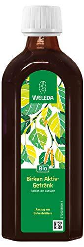 WELEDA Birken Aktiv-Getränk, Belebendes Birkenwasser zum Trinken, ohne Zucker für Diabetiker geeignet, mit Bio-Zitronensaft (1 x 250 ml)