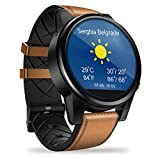 Smartwatch mit Kamera Damen Herren Zeblaze THOR4 Pro Android Quad Core 1GB+16GB Bluetooth GPS 4G WiFi Phone Wasserdicht Support Anruferinnerung Nachrichtenerinnerung für Android iOS (braun)
