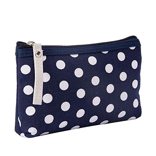 Damen Kosmetiktasche, kariert, Reisetasche, Make-up-Tasche, Handtasche, mit Reißverschluss, kleine Kosmetiktasche 4 Größe - 4 Taschen Tote-leinwand-tasche