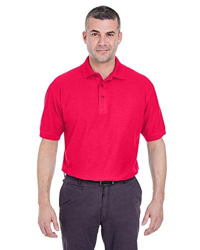 UltraClub Herren Poloshirt Rot