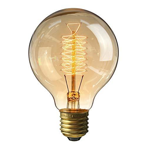 Kingso e27 edison lampadine a incandescenza edison g80 60w 220v lampadina a globo vintage
