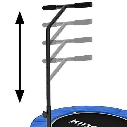 Kinetic Sports Indoor Fitness Trampolin Home Trampolin, Durchmesser 100 cm, Haltegriff Höhenverstellbar 83-123 cm - 5