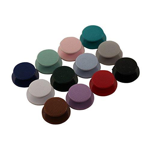 eJiasu plastica Joystick Cap & Thumbstick Thumb Grip funghi copertura Cap pulsante di ricambio per PSP2000 / 3000 (24pcs-multicolore)