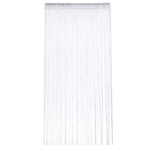 Yinew Spaghetti String Vorhang Panel Dichte, Polyester Quaste für Vorhänge, Polyester, weiß, Siehe Produktbeschreibung (Vorhänge-panels Weiße)