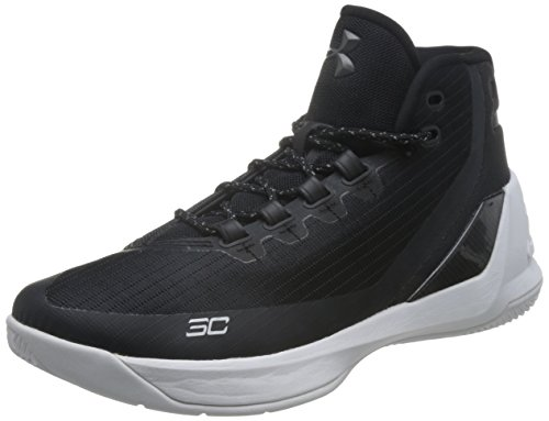 Under Armour Curry 3, Herren Sneaker Weiß Red Black 984, Black White 006 - Größe: 45.5 (Trainer Sc Air Schuhe)