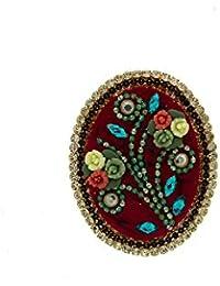 Anuradha Art Multi Colour Fancy Party Wear Designer Brooch/Saree Pin For Women/Girls