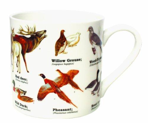 Gift Republic Mug en porcelaine anglaise Motif animaux sauvages Multicolore